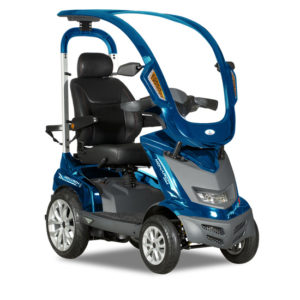 golf mobility scooter royal blue