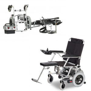 heartway puzzle travel folding wheelchair open & disassembled