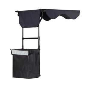 scooter canopy open with rear bag