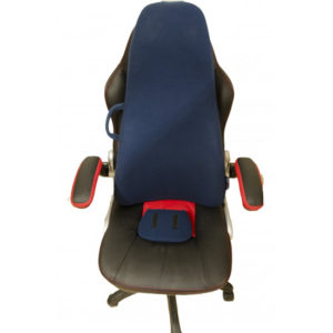 chair with obusforme highback cushion