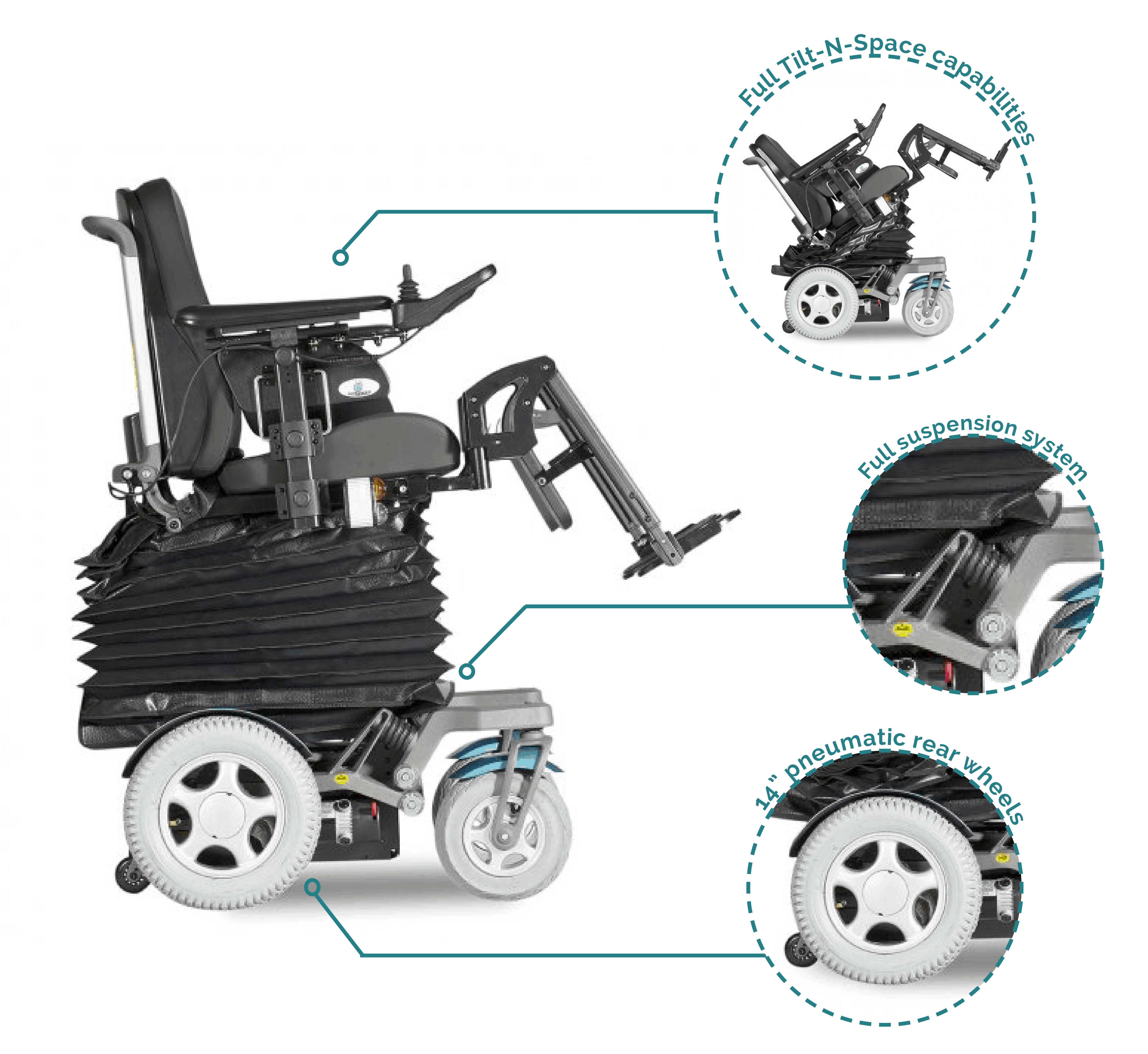 Heartway CEO Elevating Tilt Electric Wheelchair