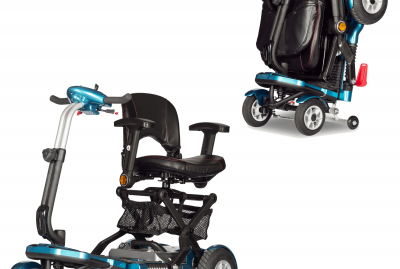 portable scooter with swivel seat